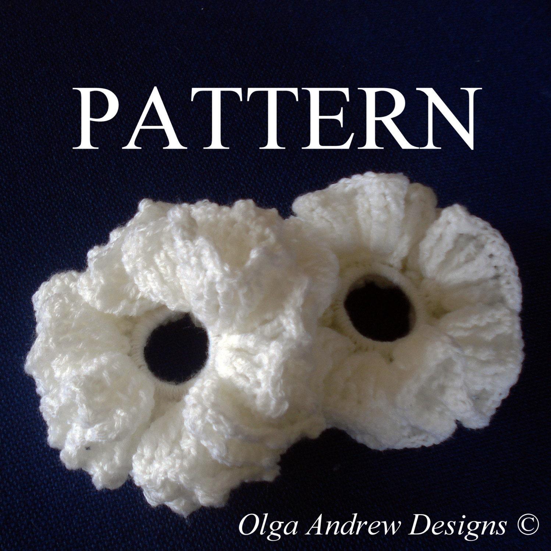 Ruffle scrunchie crochet pattern scrunchie pattern crochet