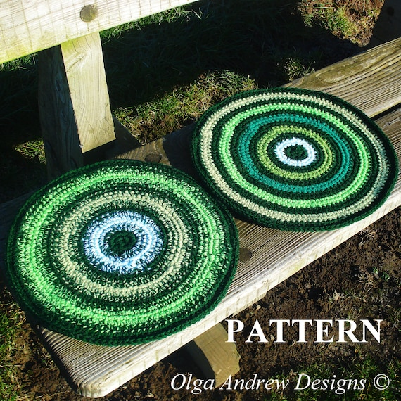 Chair Seat Cushion Crochet Pattern Chair Pad Crochet Pattern Cushion