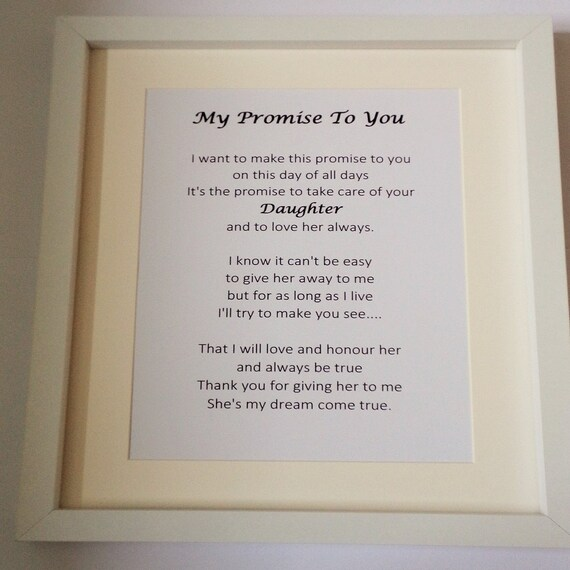 To My Father In Law On My Wedding Day Personalised Wedding Etsy