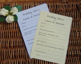 Wedding Advice Cards, 10 wedding advice cards, wedding tags, Advice card, Wedding Day, Wedding advice cards. Bridal shower