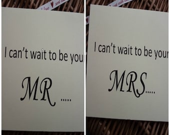 I Can't Wait to Be Your Mrs  or Mr Wedding Day Card for Groom Love Note Before I Do to my groom on our wedding, wedding cards, wedding day