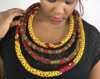 Ankara Layered Necklace