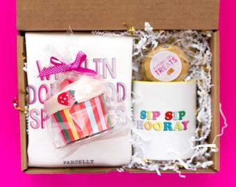 Happy Cake Day   Birthday Gift for Best Friend   Custom Birthday Gift Box for Her   Send A Gift