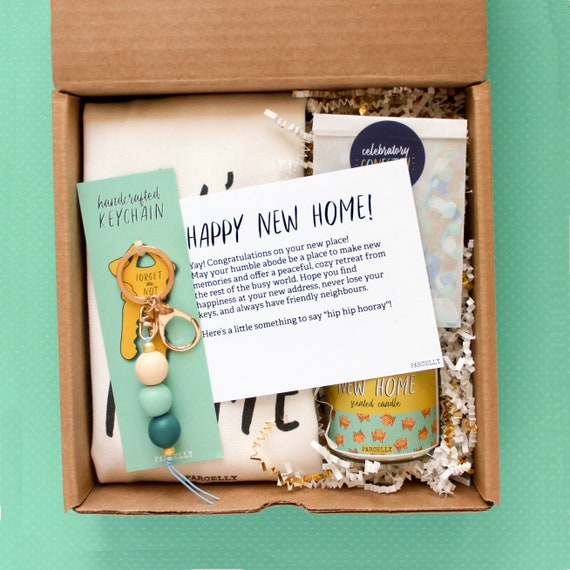 Personalized Housewarming Gift Box New Apartment Gift New Home Gift Basket Homeowner Gift Realtor Gifts Mortgage Broker Gift