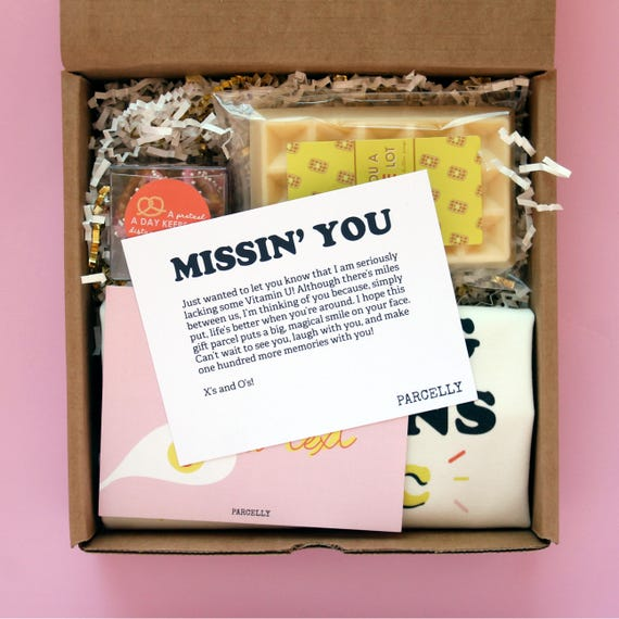 Long Distance Friendship Box I Miss You Gift Box College Etsy