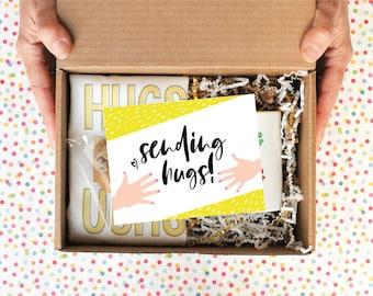 Sending Hugs Care Package Sunshine Gift Box Send a Hug Cheer Up Gift Basket