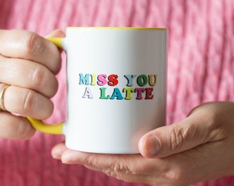 Miss You a Latte Mug | Cheer Up Gift | Miss You Gift Box | Gift for the Coffee Lover