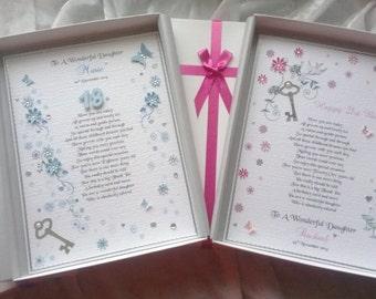 Luxury Daughter 18th 21st Birthday Card Handmade Personalised Keepsake Granddaughter Niece Sister