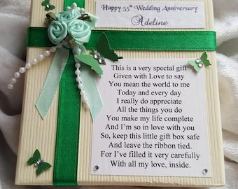 Unique Wedding Anniversary Gift - Keepsake Poem - Little Box Filled with Love