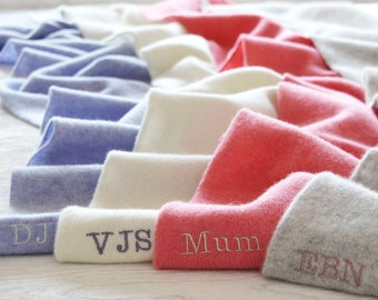Ladies Personalised Scarf, Monogrammed Scarf, Personalized scarf, personalised gift, personalized gift