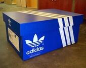Custom Adidas Inspired 3 Line Original Blue Giant Shoe Box