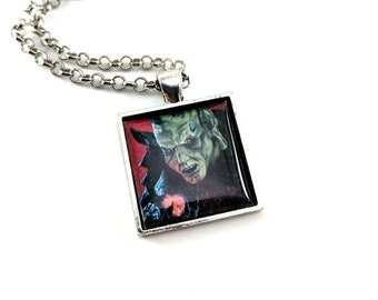 Wishmaster necklace - pendant - Wes Craven - The Djinn - horror art - Andrew Divoff - monster - scary movies - genie - three wishes
