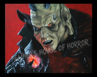Postcard prints - Heather's House of Horror - Wes Craven's Wishmaster - The Djinn - Andrew Divoff - horror art - limited print - quality
