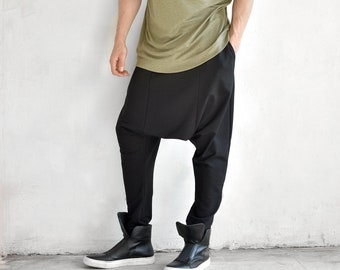 Elegant Drop Crotch Casual Pants by  AakashaMen A05062M