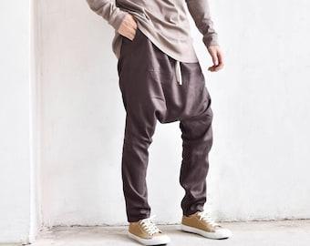 Elegant Linen Harem Pants A90371M