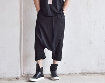 Casual 7/8 Drop Crotch Pants A05739M