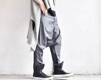 Cold Wool Deep Drop Crotch Pants A05188M