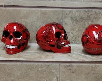 Painted Skulls Etsy