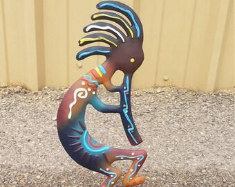 Kokopelli.Metal Kokopelli.Native American Kokopelli.Southwestern decor.Southwest decor.Desert decor.Arizona decor.Kokopelli figurine
