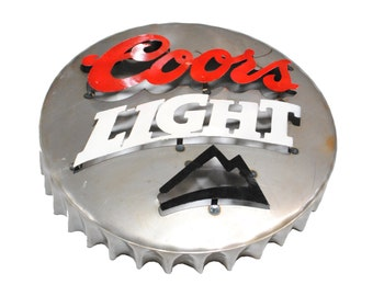 Coors light gifts etsy coors light bottle cap metal sign coors sign metal coors sign beer signs metal beer signs alcohol signs bar signs aloadofball Choice Image