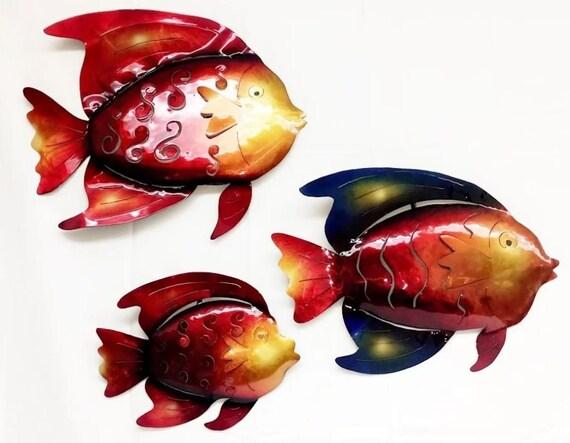 Metal Fish Fish Wall Art Gift Fish Decor Fish Art Home Fish Wall Decor Auto Paint Colorful Fish Wall Art Fishing Decor