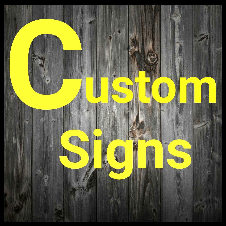 Custom signs. custom lighted signs. custom metal signs. custom   Etsy