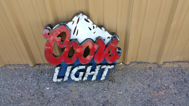 Coors Light Sign.Metal Coors Light sign.Metal Beer | Etsy