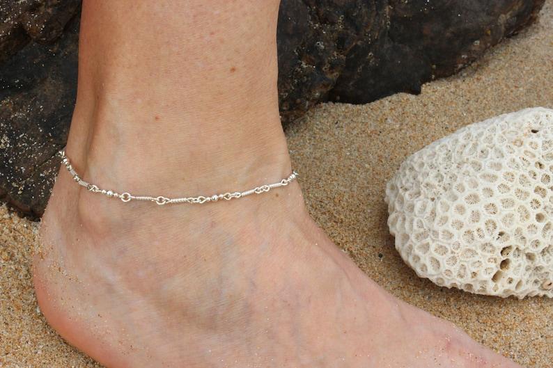 3bf890b83c91ba Bracciale argento argento caviglia caviglia cavigliera | Etsy