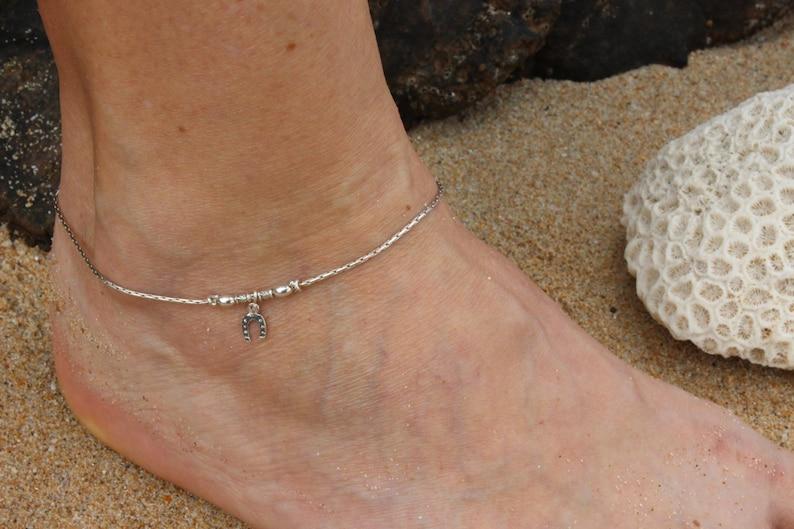 b45ad5fd051c71 Cavigliera Argento 925 argento cavigliera charm ferro di | Etsy