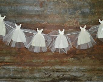 Bridal Shower Decoration Wedding Dress Banner