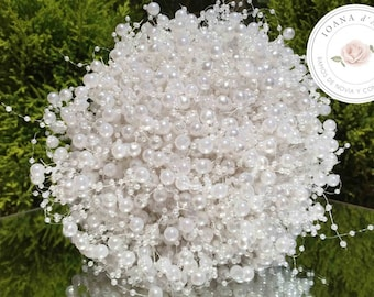 Bridal pearls bouquet, Beautiful bridal bouquet made with white pearls