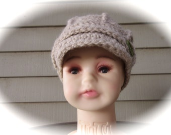 Newsboy Cap - Crocheted