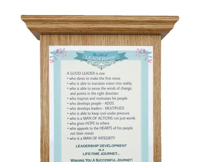 Graceland light oak finish roman wood plaque with bible verses, baptism, engagement, wedding, housewarming, boss, leader