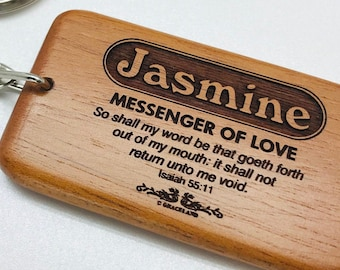 Names Jason-Larry | BESTSELLING! Christian Name Keychain / Keyring With Bible Verse / Scripture & Meaning Of Name | GracelandGifts