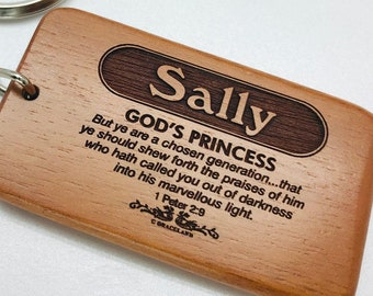 Names Sally-Tracey | BESTSELLING! Christian Name Keychain / Keyring With Bible Verse / Scripture & Meaning Of Name | GracelandGifts