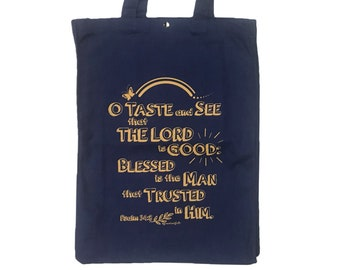 New! Graceland Tote Bag (Psalm 34:8) for Ukulele, Musical instrument, Sport, Travel, Shopping, All Purpose Bag, Custom Size...Free Shipping