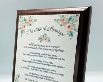 Graceland teak finish wood plaque with bible verses, baptism, engagement, wedding, housewarming, boss, leader