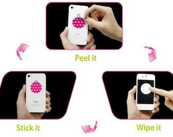 Mobile Sticker 2 sets |  Sticky screen cleaner, phones, iPad, laptops, cameras, portable music devices etc.great gift, FREE local shipping
