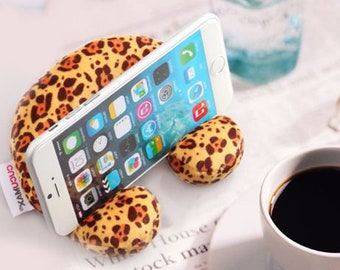 3in1 MPS | Mobile Phone Sofa, cute mini sofa shape mobile holder, screen cleaner, wrist rest cushion, great gift, FREE local shipping...