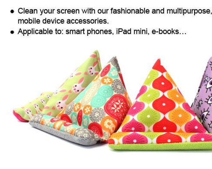 MMS Microfibre Mobile Stand | Mobile holder, mobile bean bag, screen cleaner, great gift, FREE local shipping...