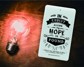Traveller Power Bank | Slim Portable Charger 4,000mAh, Traveller Card, In Christ Alone My Hope is Found, Powerbank, Free Local Shipping
