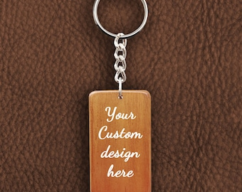 Personalized Wooden Keychain - Customized Request for Keyring Design