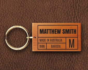 LKBC | Name Personalised Details Keyring