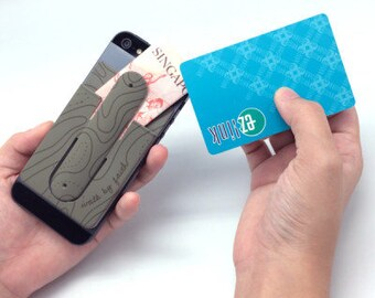 IGYB 2pc Mobile Card Holder and Snap Stand, Mobile Wallet, Removable Holder, Fits All Smart Phone, Removes Cleanly