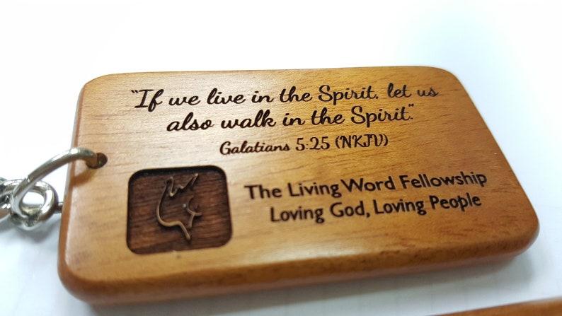 Baptism Wedding Customised Unique Name Keychain  Solid Mahogany Wooden Name Keyring House Warming GracelandGifts Birthday