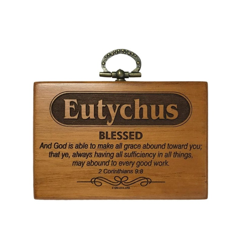 Customise Your Unique Name  Mahogany Wood Name Plaque  image 0