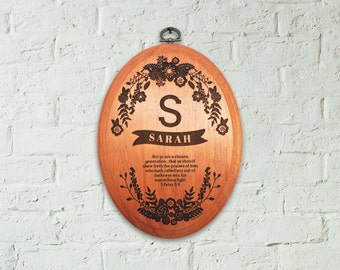 Oval Wooden Signs