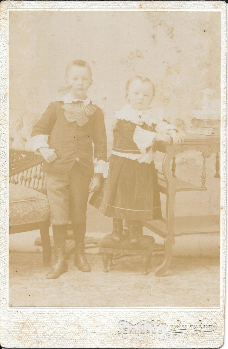 Antique Photo Portraits of Boys of Niagra Falls South Photographed by John England circa 1890s