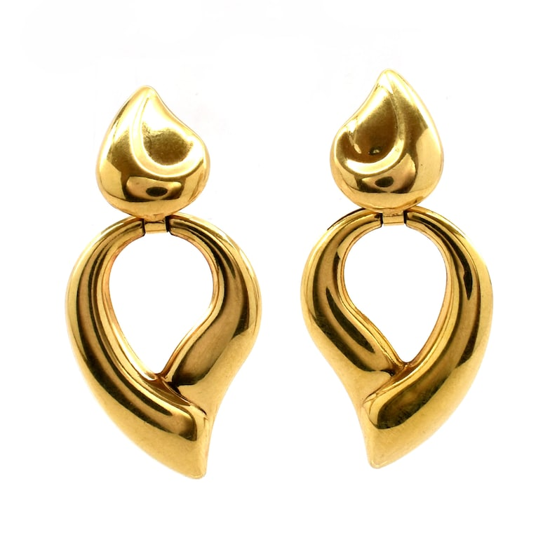 b587299f20fc 14K Solid Yellow Gold Earrings Vintage Estate 2 Pairs in 1