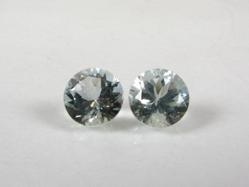 .8 MM ROUND CUT WHITE ZIRCON ALL NATURAL AAA 3 PC SET